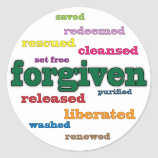Forgiven Christian stickers (white)