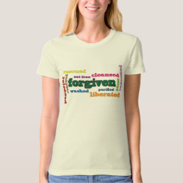 Forgiven Christian women's organic fitted t-shirt