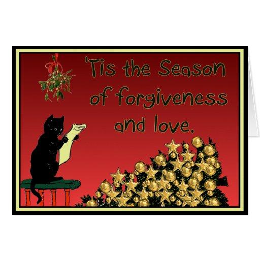forgiveness and love Christmas card