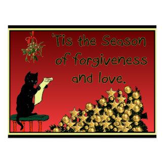 forgiveness and love Christmas postcard