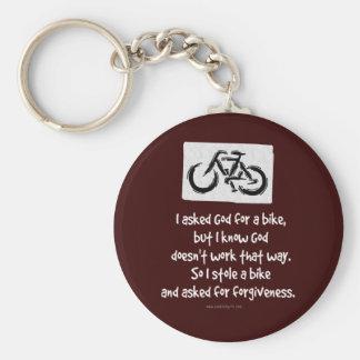forgiveness... basic round button keychain