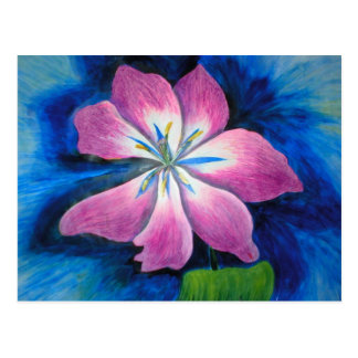 forgiveness flower affirmation postcard