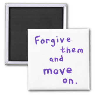 Forgiveness freedom growth recovery progress 2 inch square magnet