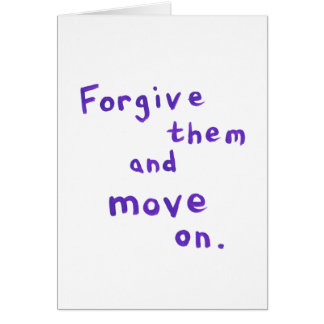 Forgiveness freedom growth recovery progress card