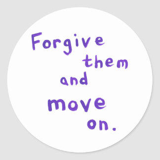 Forgiveness freedom growth recovery progress classic round sticker