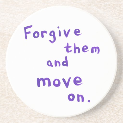 Forgiveness freedom growth recovery progress drink coaster