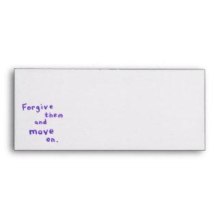 Forgiveness freedom growth recovery progress envelopes