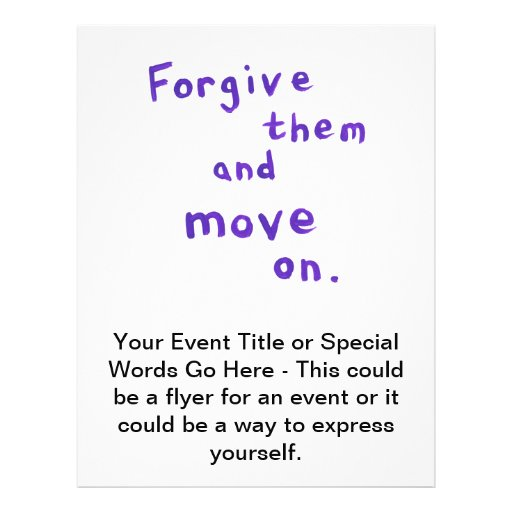 Forgiveness freedom growth recovery progress personalized flyer