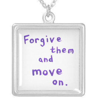 Forgiveness freedom growth recovery progress square pendant necklace