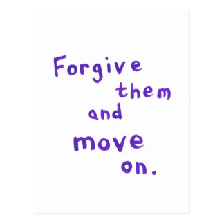 Forgiveness freedom growth recovery progress postcard