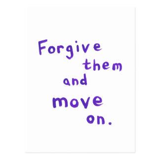Forgiveness freedom growth recovery progress postcard