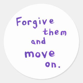 Forgiveness freedom growth recovery progress classic round sticker