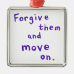 Forgiveness growth recovery progress freedom christmas tree ornament