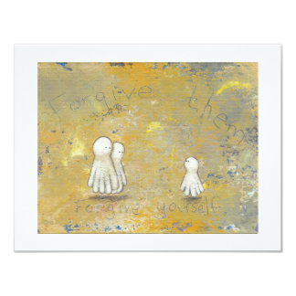 Forgiveness healing recovery ghosts the past art 4.25x5.5 paper invitation card