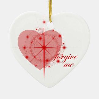 forgiveness heart christmas ornament