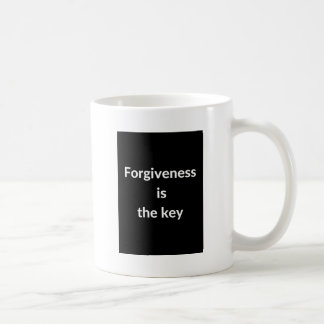 Forgiveness is the key coffee mug