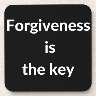 Forgiveness is the key drink coaster