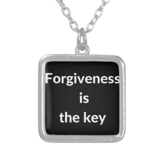 Forgiveness is the key silver plated necklace