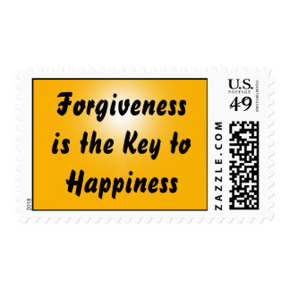 Forgiveness is the Key to Happiness - Postage Stamp