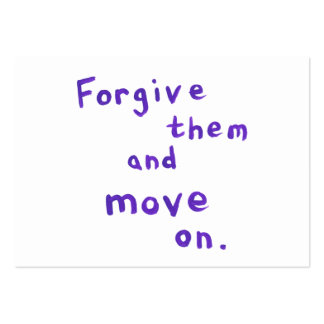 Forgiveness recovery progress freedom growth large business cards (Pack of 100)