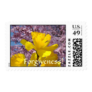 Forgiveness! Stamps Yellow Daffodil Flowers