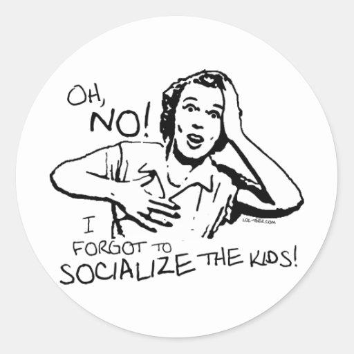 Forgot the Socialization Classic Round Sticker