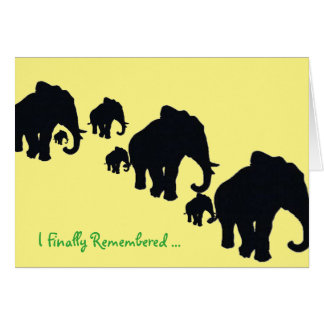 Forgot your birthday stationery note card
