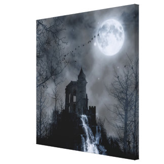 Forgotten Castle Ruins Gothic Landscape Gallery Wrapped Canvas