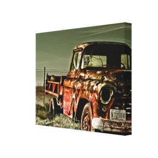 Forgotten Chevy - Wrapped Canvas