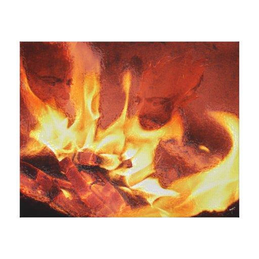 Forgotten Fire Canvas Print