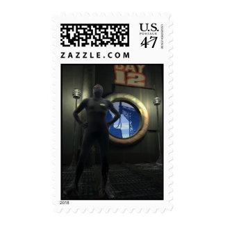 Forgotten Robot Sentry Postage