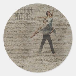 Forgotten Romance 2 Round Stickers