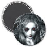 Forgotten Tempest Gothic Vampire 3 Inch Round Magnet