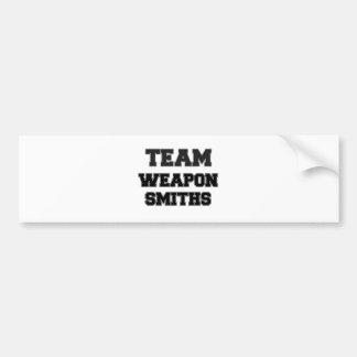 Forjadores del arma del equipo pegatina de parachoque