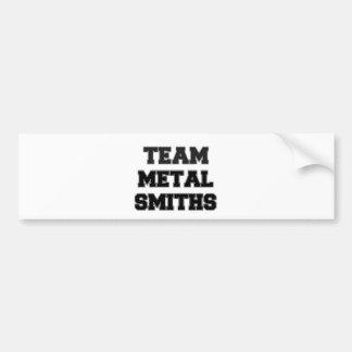 Forjadores del metal del equipo etiqueta de parachoque