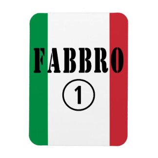 Forjadores italianos: Uno de Fabbro Numero Imán Rectangular