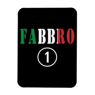 Forjadores italianos: Uno de Fabbro Numero Iman Rectangular