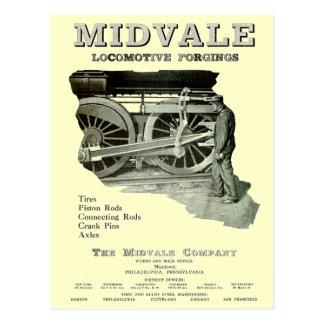Forjas de la locomotora de vapor de Midvale 1924 Tarjetas Postales
