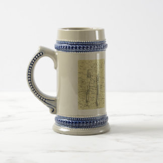 fork and knife 18 oz beer stein