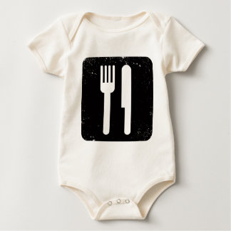 Fork and Knife Baby Bodysuit