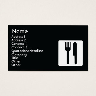 Fork and Knife - Business Business Card