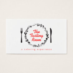 Fork And Knife Wreath Catering, Chef, Restaurant Business Card at Zazzle