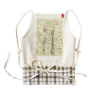 fork and knife zazzle HEART apron