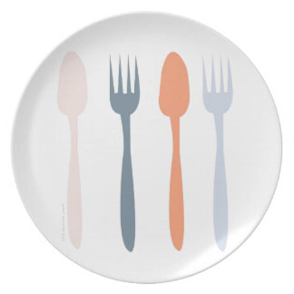 Fork and Spoon Plate