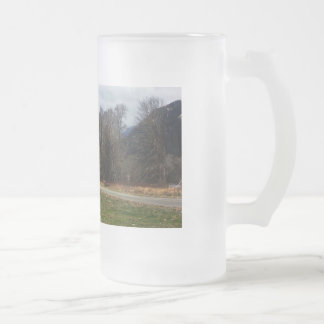 Fork in the Road Olympic National Park Frosted Glass Beer Mug
