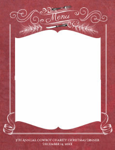 dinner menu christmas invitations zazzle