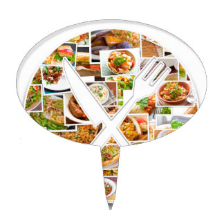 Fork Knife Foods Cake Topper