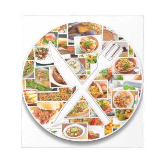Fork Knife Foods Notepad
