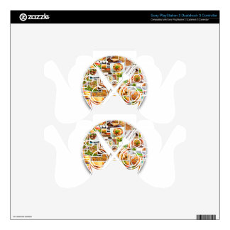 Fork Knife Foods PS3 Controller Decals