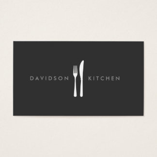 Fork & Knife Logo 2 for Chef, Foodie, Restaurant Business Card